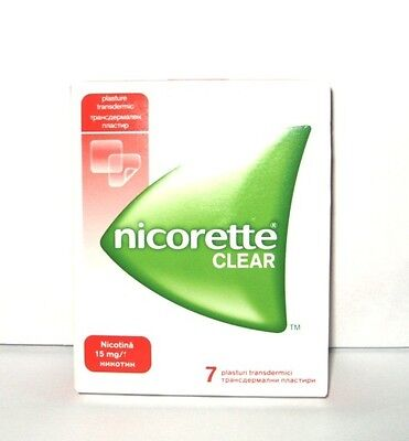 Nicorette Clear Nicotine 15 Mg  7 Patches New Free Shipping