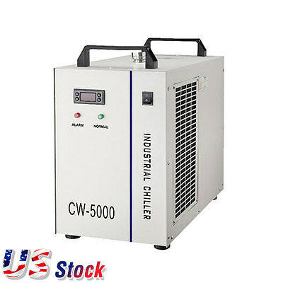 US - CW-5000DG Industrial Water Chiller 80W/ 100W for CO2 Glass Laser Tube