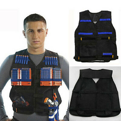 Tactical Vest Adjustable for Nerf N-Strike Elite Series Battle Game Dart Tag Kit