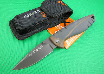 Bear Grylls Folding Sheath Knife Camping Fishing Hunting Survival Knife