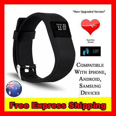Heart Rate Activity Tracker Wristband Fitbit Hr Style Bluetooth Watch Monitor