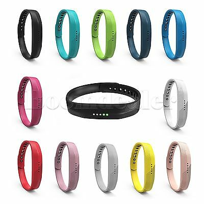 Sport Silicone Wristband Band Strap Bracelet For Fitbit Flex 2 Smart Watch S, L