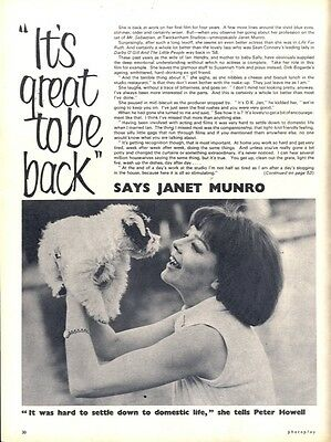 It's Great To Be Back Says Janet Munro Article & Picture(s)