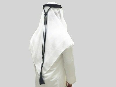 2 Piece Igal And White Shemagh Scarf Set Rag Head Arab Value Head Fancy Deal New