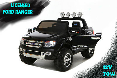 New 70W Kids Licensed Ford Ranger Childrens Electric Ride On Car Pickup Truck 4