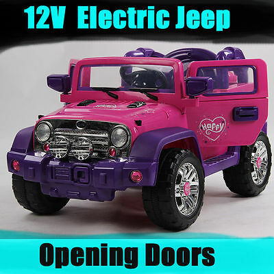 Girls Large 12V Pink Electric Ride On Car Jeep  Christmas Gift Remote