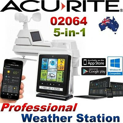 AcuRite Pro Weather Station 5-in-1 WeatherSensor Monitoring App 0206 PC Connect