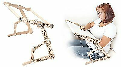 "Sofa machine embroidery cross and beads Dubko ""Needlewoman"""