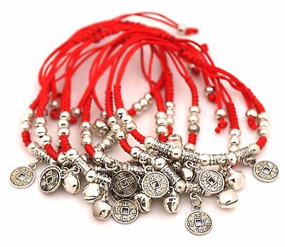 Lots 6 PCS Handmade Feng shui Coin bracelet for Health Wealth Good Luck gift