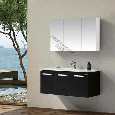 NEW 1200 x 720 x150mm Pencil Edge Shaving Mirror Medicine Cabinet White Bathroom