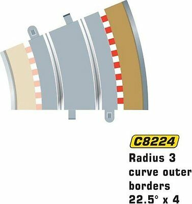 NEW Scalextric C8224 Borders Tan Outer Radius  22.5 Degrees FREE SHIPPING