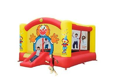 Super Clown Bouncy Castle with Slide - Rideontoys4u