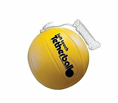 Park & Sun Sports Soft Touch Tetherball 7 Nylon Cord Clip Classic Yellow