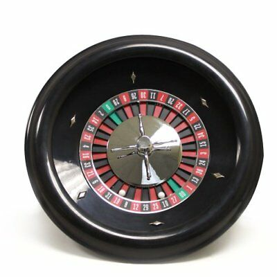 """NEW 18"""" Premium Bakelite Roulette Wheel with 2 Roulette Balls by Brybelly"""