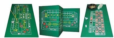 NEW Craps & Roulette 2 Sided Casino Felt Layout FREE SHIPPING