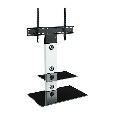 """Satin White Cantilever TV Stand With LCD LED TV Wall Bracket for 32 - 55"""" inches"""