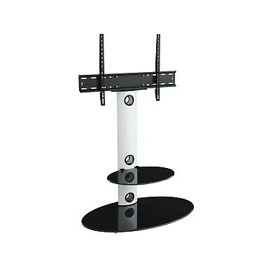 """Gloss White TV Stand Cantilever With TV Mount Bracket for 32 - 60"""""""