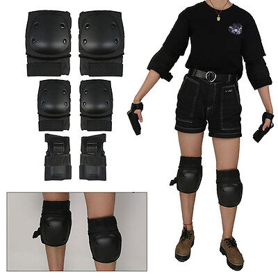 Skateboard Roller Knee Elbow Wrist Pads Protective Gear Guard Skating Riding New