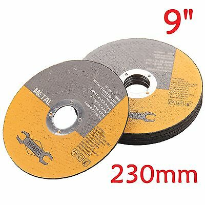 """10 Pack Of Metal Cutting Discs 230mm 9""""  thin Stainless Steel Angle Grinder Cut"""