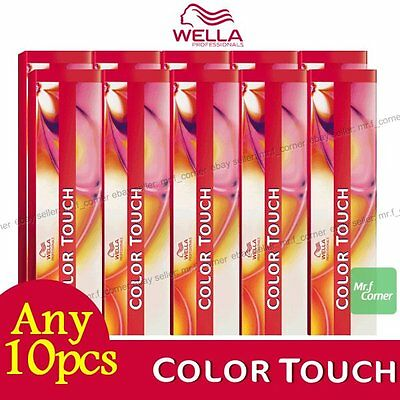Any 10pcs - Wella Color Touch Semi Permanent Hair Dye 60ml