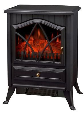Log Burning Flame Effect 1850W Electric Fire Heater Plastic Fireplace Stove Fan