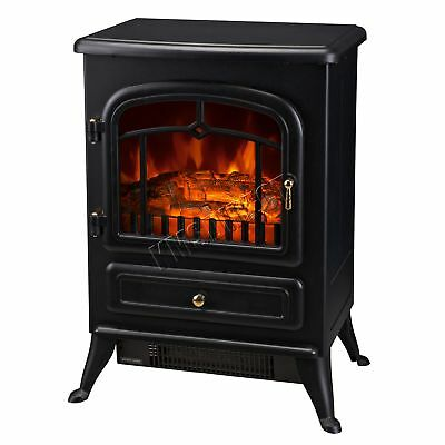 FoxHunter 1850W Log Burning Effect Electric Fire Stove Heater Fireplace ND-180ML