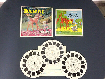 View Master Bambi Disney Stereodisco Reel Rells 21 3D Pictures Vintage 1956