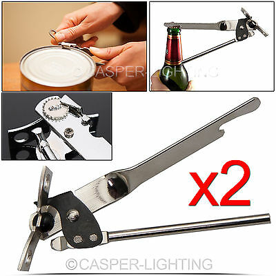 2x Can Jar Tin Bottle Opener Stainless Steel Butterfly Food Camping Travel Metal