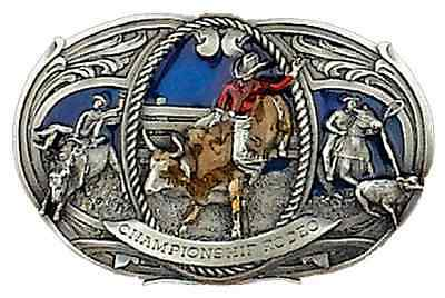 Belt Buckle Rodeo Championship Bull Rider Small Western Cowboy Made In Usa