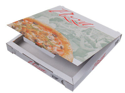 200 Pizzakarton Pizza Karton Pizzabox to go 26x26x3 cm bedruckt Motiv (26010)