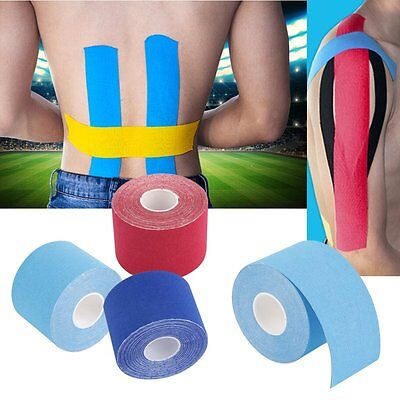 HOT 5M*5cm Kinesiology Elastic Tape Roll Sports Muscle Strain Injury Support SUM