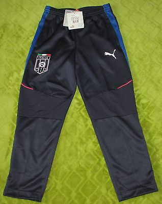 Boys Puma FIGC Italia Stadium Pants - Peacoat-Team Power Blue Various Sizes