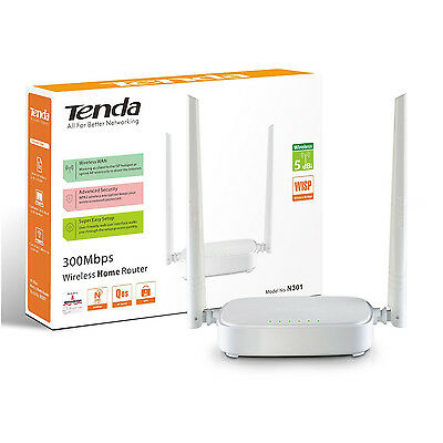 ROUTER WIFI access point 4 LAN 300Mbps WIRELESS TENDA N301 - WPS e WISP CLIENT