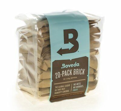 Boveda 58% 2-Way Humidity Control, Large 20-Pack Bulk Brick