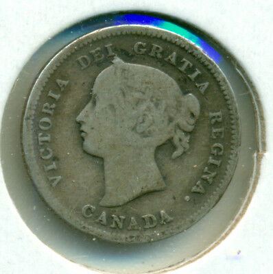 1899 Canada Silver Five Cents, Good/about Good, Great Price!