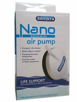 Interpet Nano Aqua Mini Air Pump Small Tropical Coldwater Aquarium Fish Tank