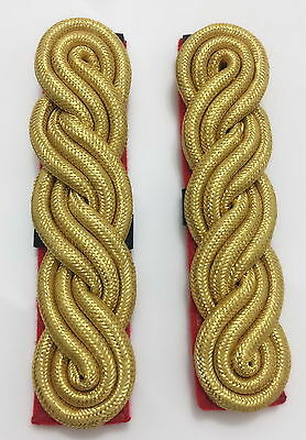 Gold 3 Ply Shoulder Cords, Triple Twist, Army, Military, Officers, Dress
