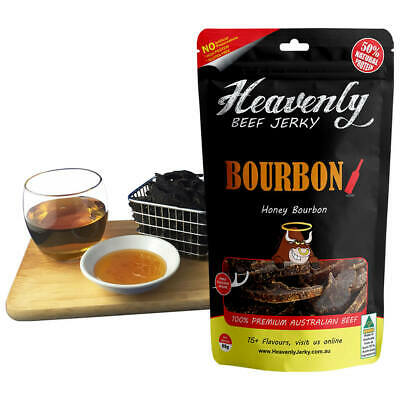 HONEY BOURBON - BOURBON 100% Premium Aust Dried BEEF JERKY - 85g 100g 1kg