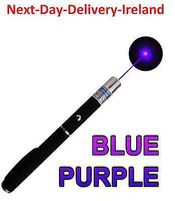 Powerful Strong Laser Pointer Violet Blue Beam -1mw 2xAAA Cat Dog Toy PowerPoint