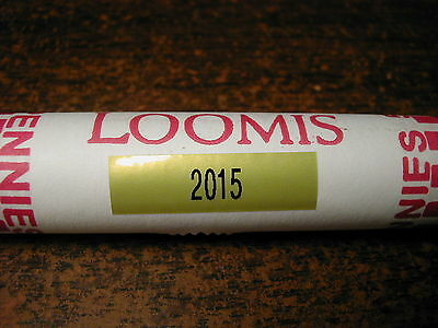 2015-P Bank wrapped roll Lincoln Shield Cents, 50 coins