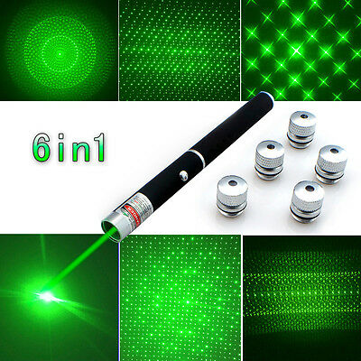 6in1 Kaleidoscope Powerful Strong Laser Beam Pointer Green -1mw Cat Dog Toy