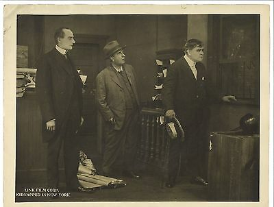 * KIDNAPPED IN NEW YORK (1914) Silent Film Crime Lobby Card DAVID HORSLEY ESTATE