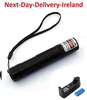 Powerful Strong Laser Pointer Green Beam -1mw 16340 Cat Dog Toy Battery Charger