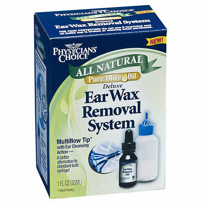 NEW-Physician's Choice All Natural Pure Olive Oil Deluxe Ear Wax Removal System