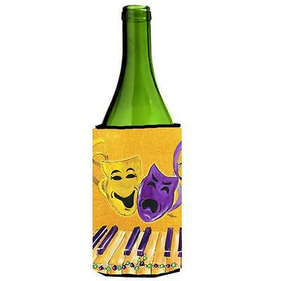 Mardi Grass Piano With Comedy And Tragedy Masks Wine bottle sleeve Hugger 24 oz.