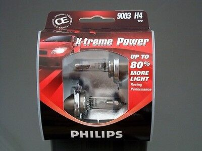 Philips 9003 X-TremePower Vision H4 Halogen Headlight Light Bulb 60W/55W Germany