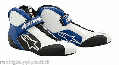 Alpinestars Auto Racing Shoe  Tech 1-T Size 11.0 Blue/White   NEW