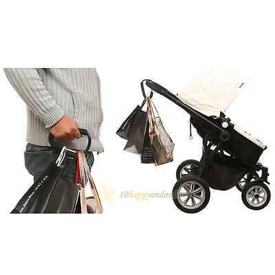 Aluminium Bag Hook For Baby Strollers Shopping Carts Pushchair Carriage Black