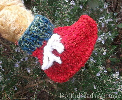 Warm eco knitted slippers bed socks RED blue green white TODDLER GIFT Corfu-made