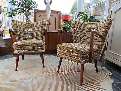 Pair Original Vintage East German Bartholomew Cocktail Arm Chairs C1955 Jy16/69 • £460.00